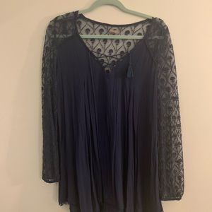 urban outfitters blue tunic/mini dress